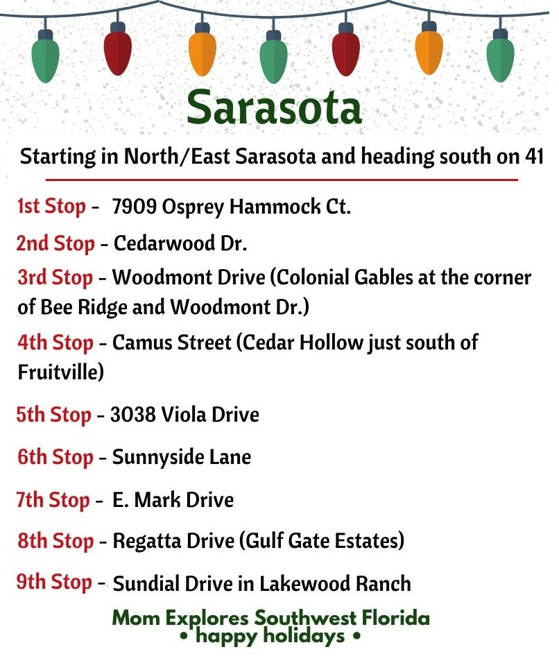 Sarasota Holiday Light Stops