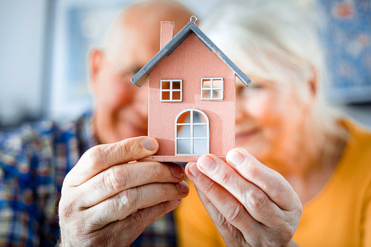 Retired Couple Downsizing a Home